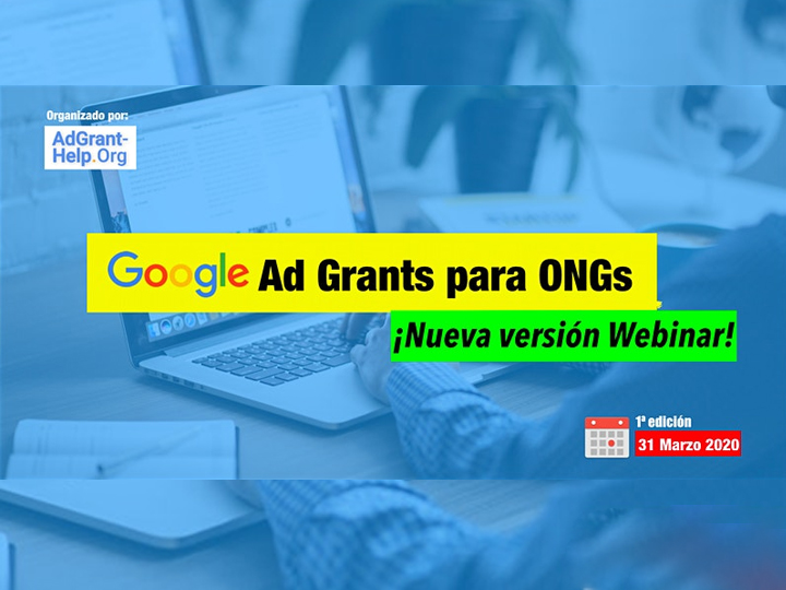 Webinar Google Ad Grants - 1ª edición